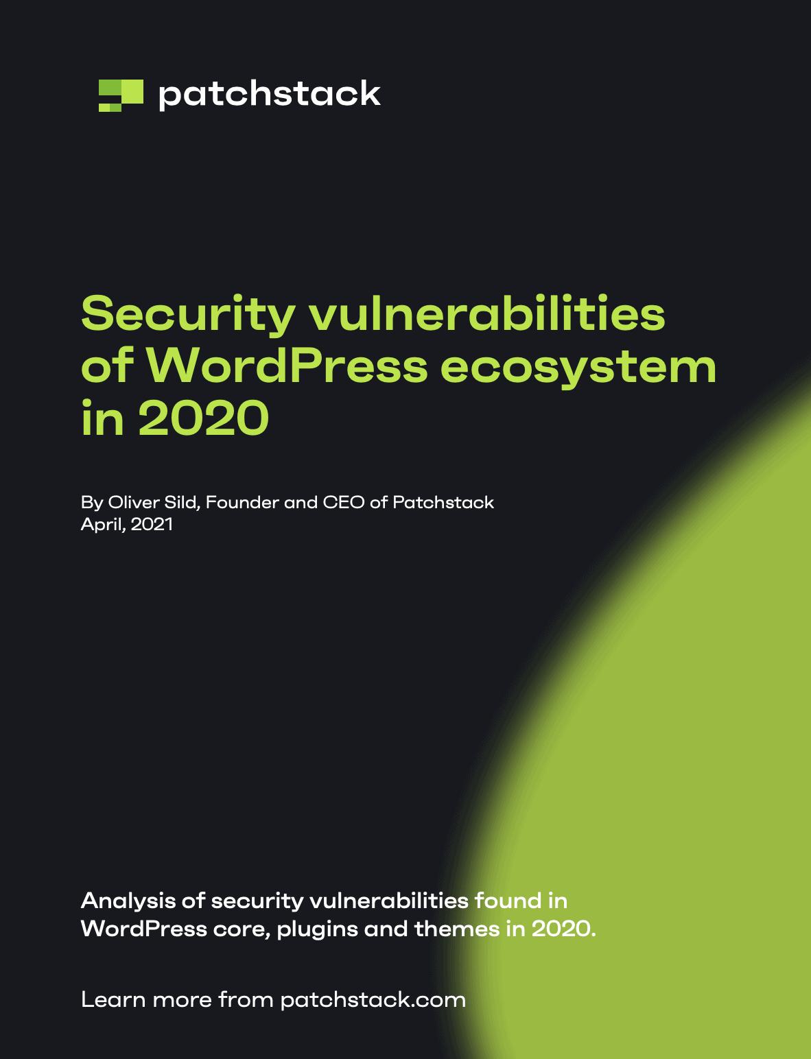 WordPress Security Whitepaper 2020
