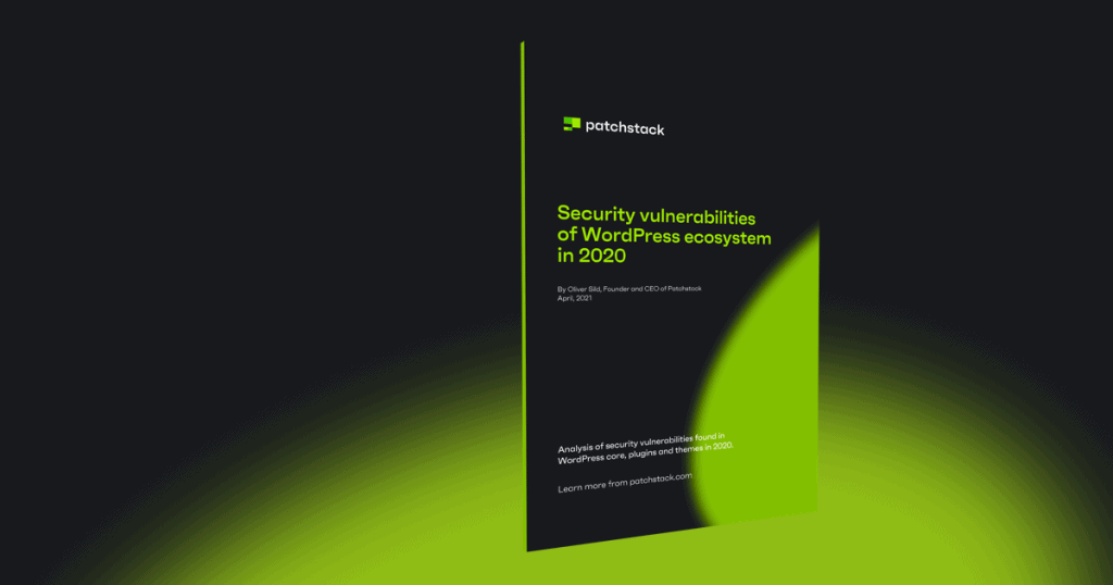 patchstack whitepaper wordpress security 2020
